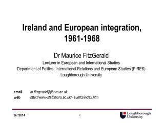 Ireland and European integration, 1961-1968