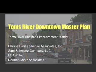 Toms River Downtown Master Plan