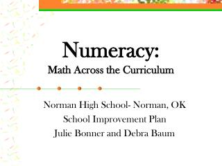 Numeracy: Math Across the Curriculum