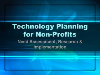 Technology Planning for Non-Profits