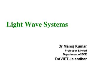 Light Wave Systems