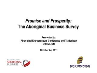 Promise and Prosperity: The Aboriginal Business Survey