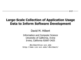 Large-Scale Collection of Application Usage Data to Inform Software Development