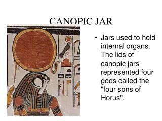 CANOPIC JAR