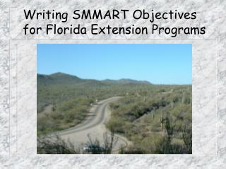 Writing SMMART Objectives for Florida Extension Programs