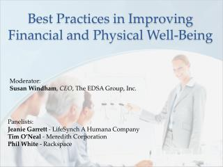 Best Practices in Improving Financial and Physical Well-Being
