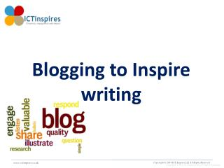 Blogging to Inspire writing