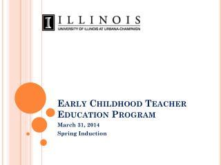 Early Childhood Teacher Education Program