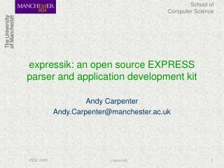 expressik: an open source EXPRESS parser and application development kit
