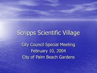 Scripps Scientific Village