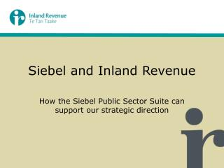 Siebel and Inland Revenue