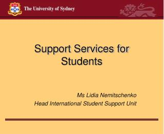 Support Services for Students