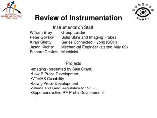 Review of Instrumentation