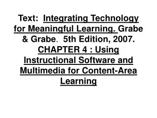 Technology for Instruction