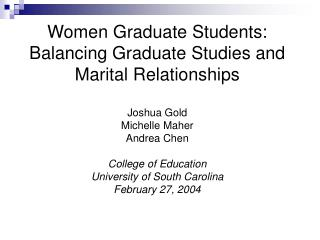 Historical Perspective on Married Students