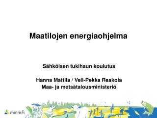 Maatilojen energiaohjelma