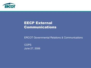 EECP External Communications