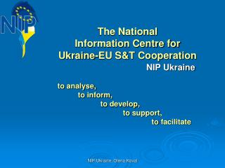 The National  Information Centre for Ukraine-EU S&T Cooperation