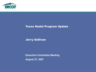 Texas Nodal Program Update