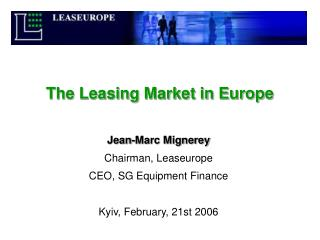 The Leasing Market in Europe