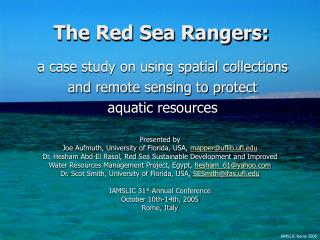 The Red Sea Rangers: