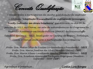 Convite Qualificação