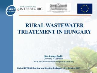 RURAL WASTEWATER TREATEMENT IN HUNGARY