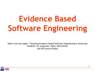Evidence Based Software Engineering