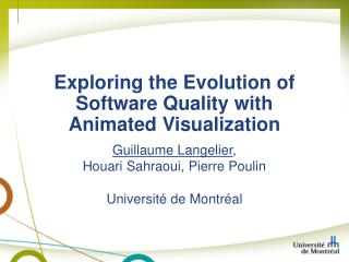 Exploring the Evolution of Software Quality with Animated Visualization