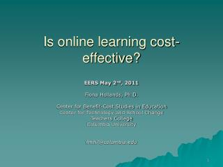 Is online learning cost-effective?
