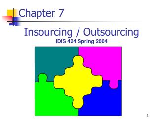 Insourcing / Outsourcing IDIS 424 Spring 2004