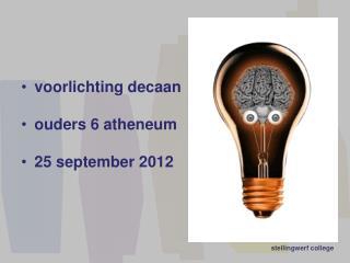 voorlichting decaan ouders 6 atheneum 25  september 2012
