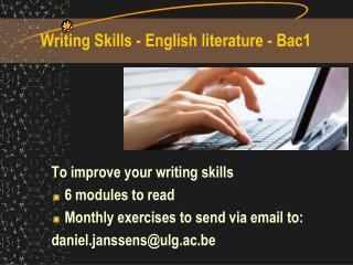 Writing Skills - English literature - Bac1