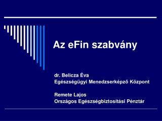 Az eFin szabvány