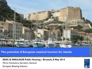 The potential of European nautical tourism for islands