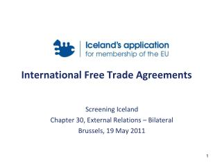 International Free Trade Agreements