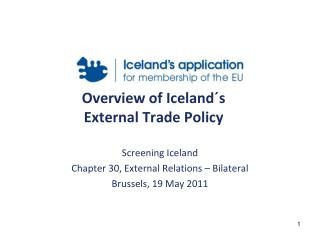 Overview of Iceland´s  External Trade Policy