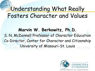 Understanding What Really Fosters Character and Values