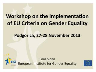 REGULATION on establishing a European Institute for Gender Equality (2006)