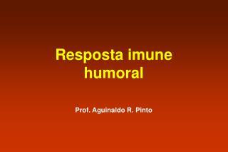 Resposta imune humoral