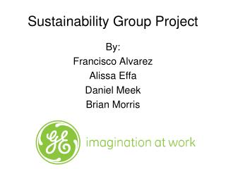 Sustainability Group Project