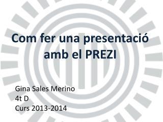 Com fer una presentació amb el PREZI