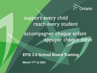 EFIS 2.0 School Board Training