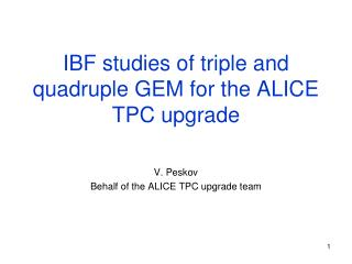 IBF studies of triple and quadruple GEM for the ALICE TPC upgrade