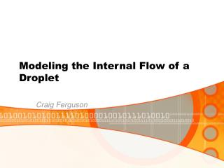 Modeling the Internal Flow of a Droplet