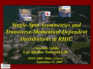 Single-Spin Asymmetries and Transverse-Momentum-Dependent Distributions at RHIC
