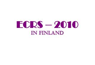 ECRS – 2010 in Finland