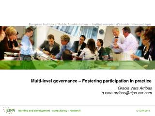 Multi-level governance – Fostering participation in practice