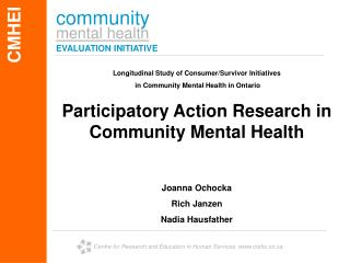 community mental health EVALUATION INITIATIVE