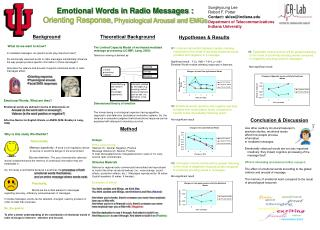 Emotional Words in Radio Messages : Orienting Response, Physiological Arousal and EMGs